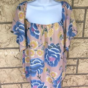 Oddy Floral Top Blouse Boutique Size Med